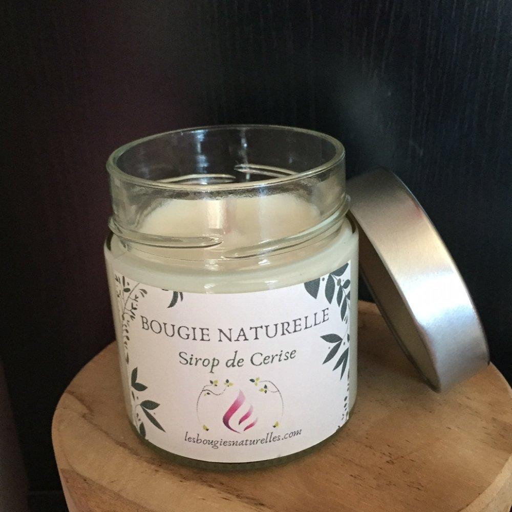 Bougie naturelle Sirop de Cerise, parfum de grasse +40h