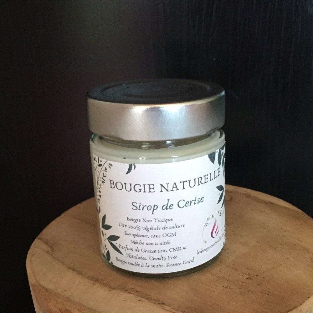 Bougie naturelle Sirop de Cerise, Parfum de Grasse +30h