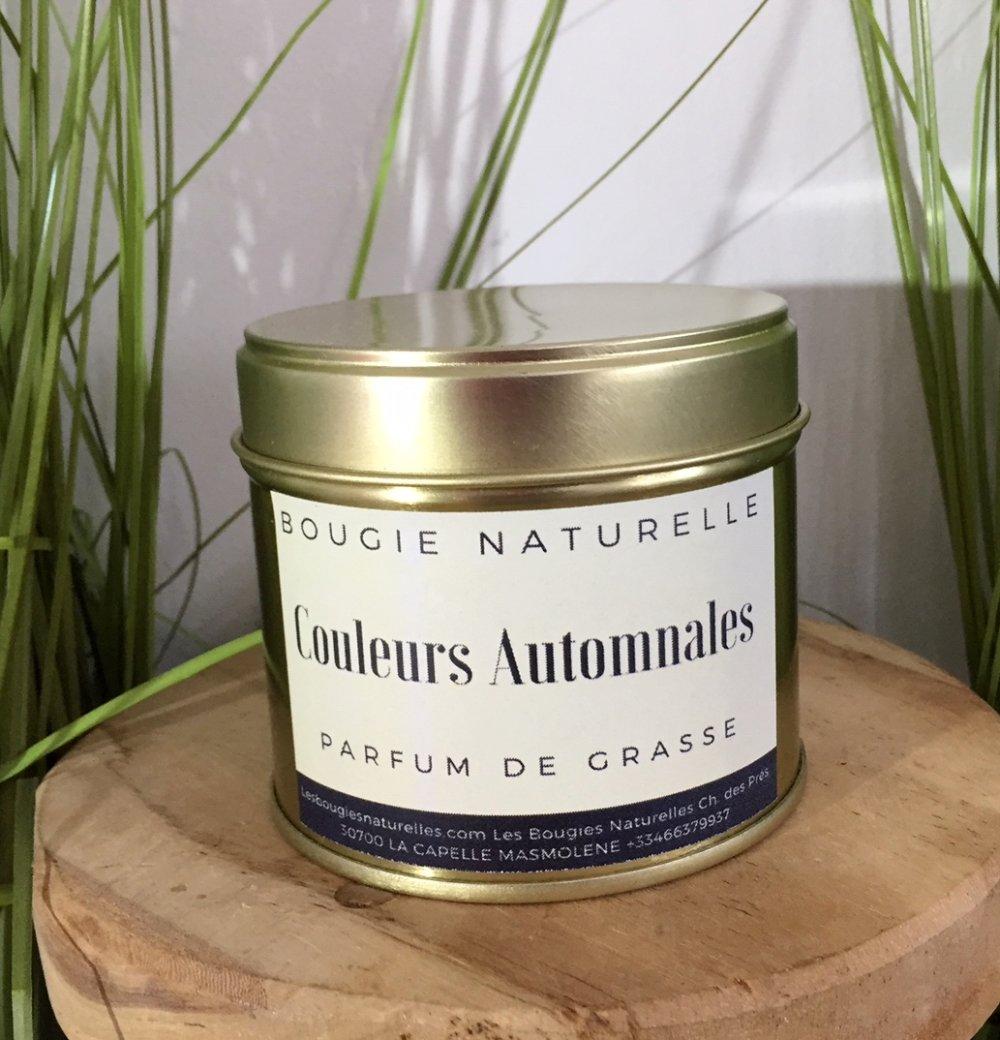 Bougie Naturelle Couleurs Automnales