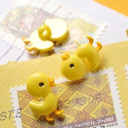 Bouton calin de petit poussin jaune, layette, bébé pâcques