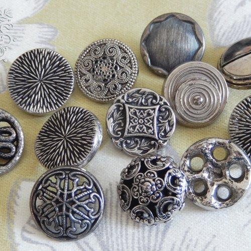 8 Les boutons en métal fait main silver cross Art Boutons 20 mm.