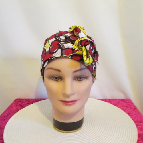 Foulard turban chimio bandeau pirate au f/éminin noir et blanc
