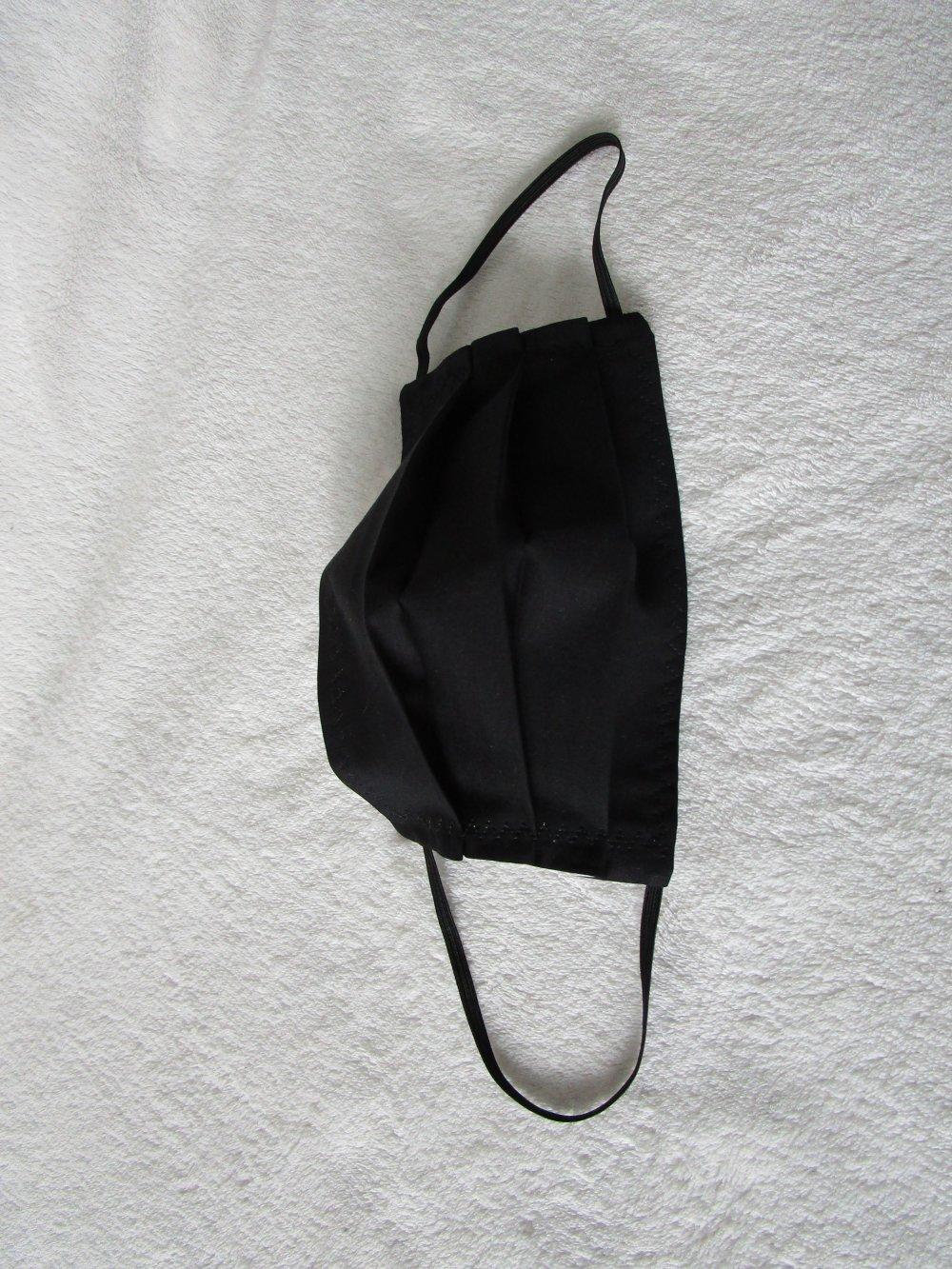 Masque ENFANT de protection de couleur noire unie
