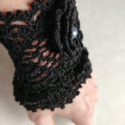 Bracelet manchette onyx