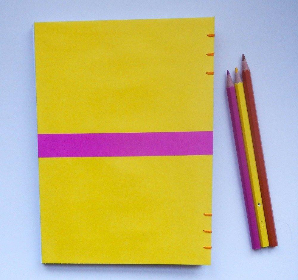 Carnet jaune mandala tricolore