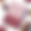 Carnet rouge couronnes de noël