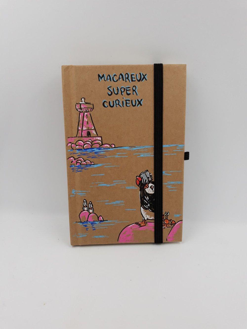 Carnet de voyage, carnet de notes, journal intime - Macareux super curieux