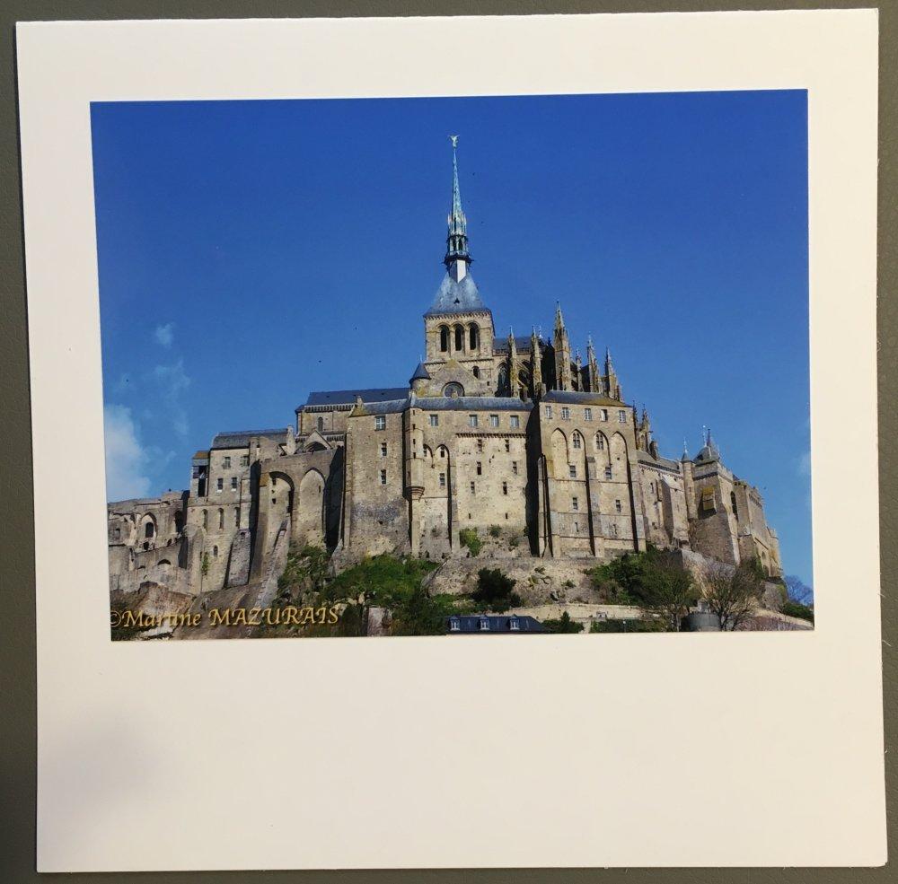 """Carte personnalisée """"Le Mont-Saint-Michel"""""""