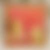 Vendu carte anniversaire ourson rouge orange jaune kraft enfant fille