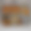 Carte anniversaire ourson gris et orange