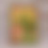 Carte merci nénuphares jaunes remerciement maîtresse