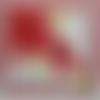 Carte anniversaire fleur rouge