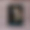 Carte anniversaire licorne crinière paillettes et bleu