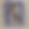 Carte anniversaire fille au panier de fleurs bleu enfant
