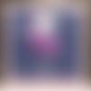Carte anniversaire danseuse blanche fleur violette enfant fille