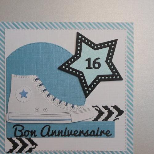 Carte Anniversaire 16 Ans Chaussures Rouges Ado Garcon Fille Un Grand Marche