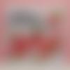 Carte merci carrée blanc roses rouge orange