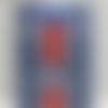 Carte anniversaire xl 14.5 x 21 masculine homme sport foot, maillot couleurs psg 2020-2021