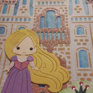 Carte Anniversaire Raiponce Et Son Chateau Un Grand Marche
