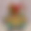 Carte de voeux pop up boîte chien guirlande et sapin joyeux noël vert rouge