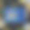 Carte de voeux joyeux noël chouette messagère porte bonheur bleu bleu turquoise