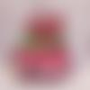 Carte anniversaire pop up boîte coeur hirondelle papillon rose fuchsia