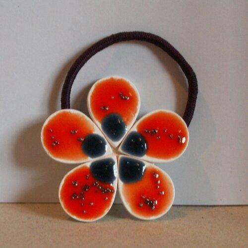 Chouchou fleur en bois