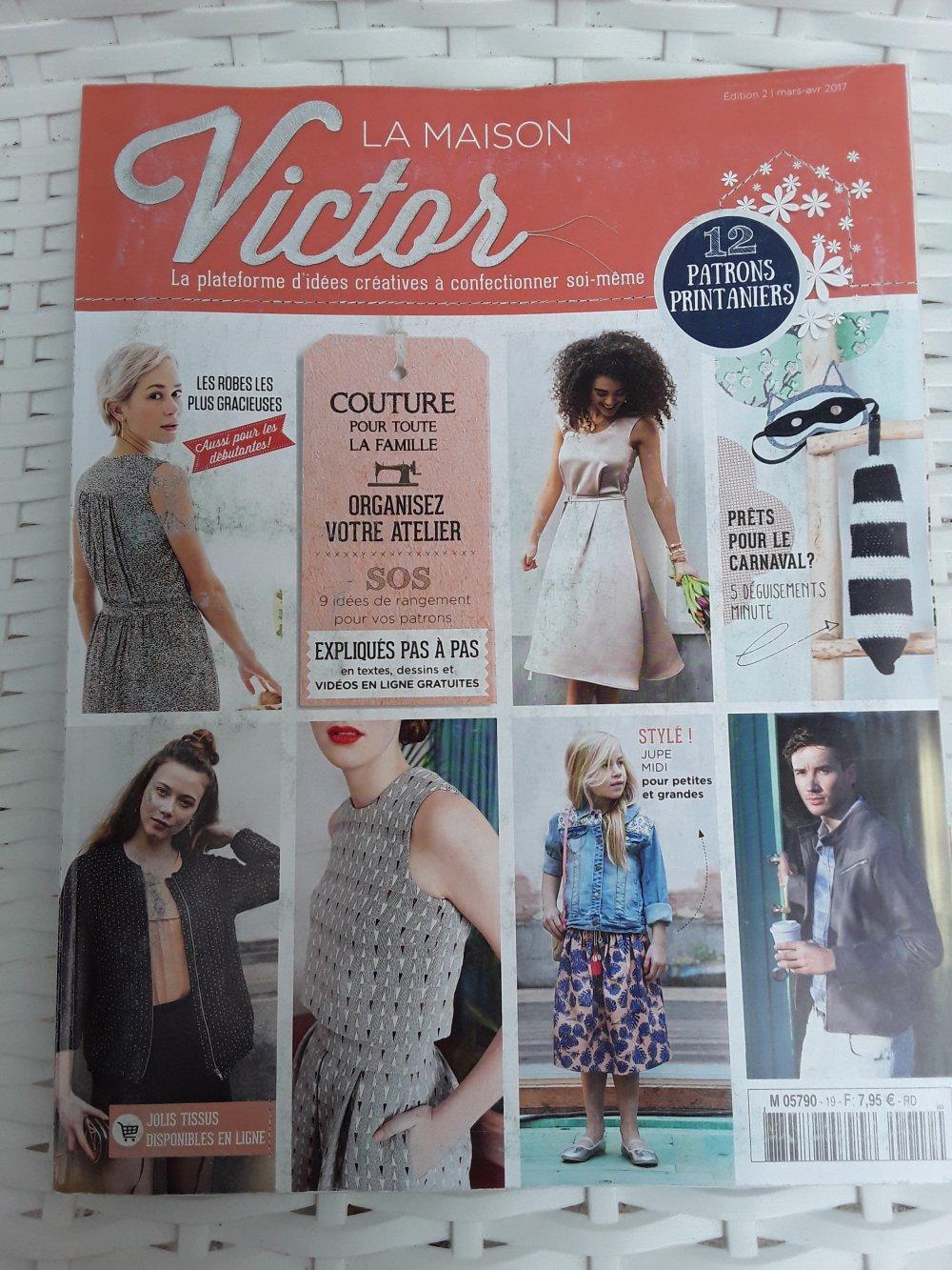 Magazine Couture La Maison Victor mars avril 2017