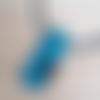 Collier imitation raku turquoise en pâte polymère