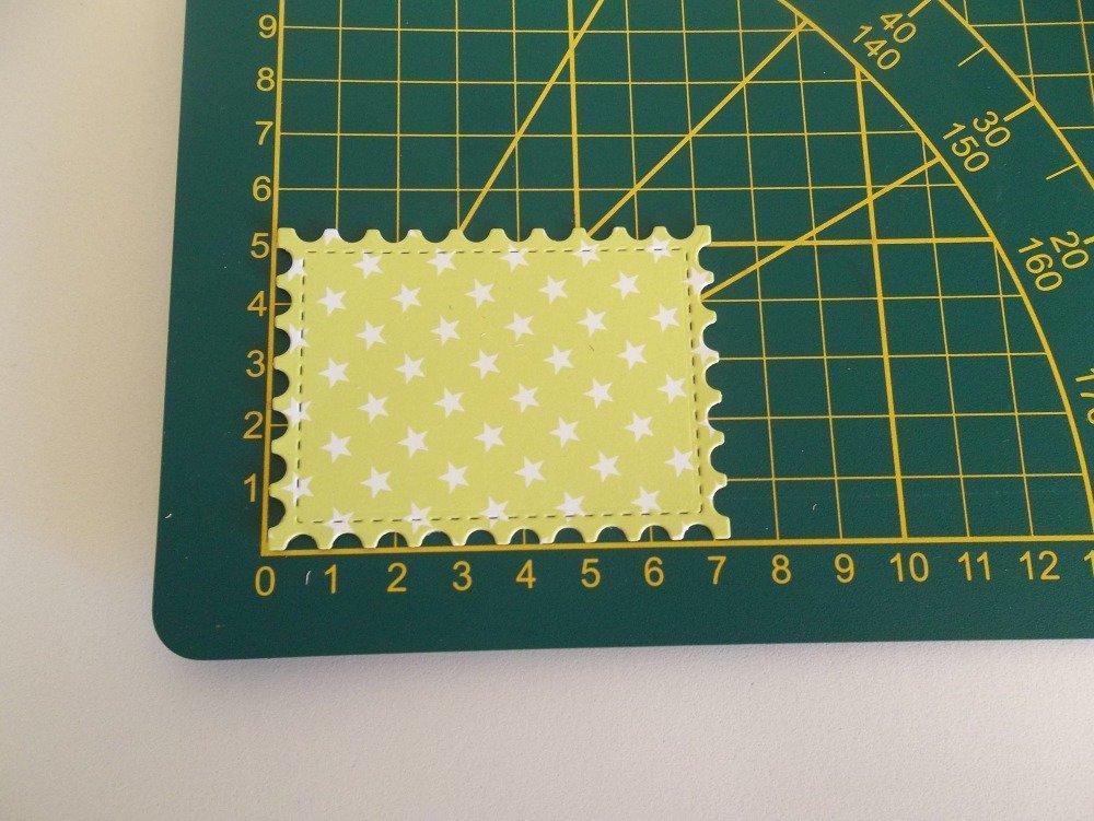 découpe cadre rectangulaire vert motif étoile