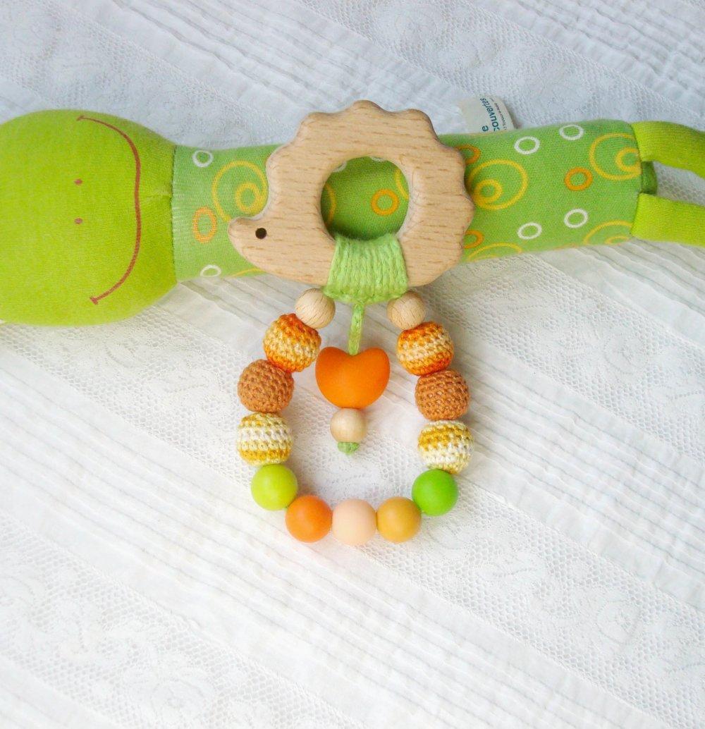 Modèles d'anneau de dentition en hêtre pour base de jouet-anneau