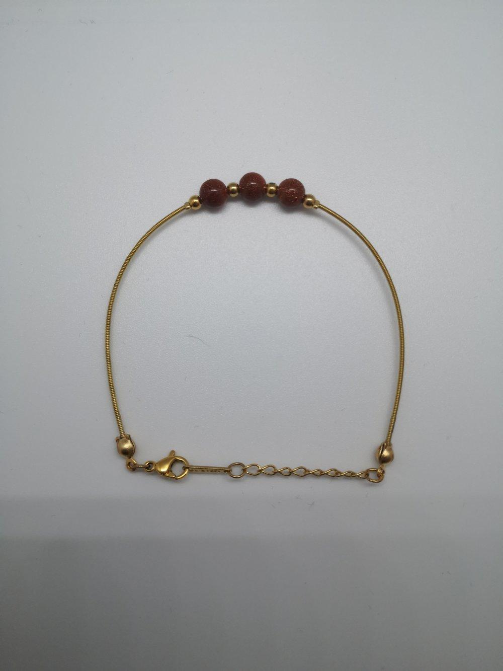 Bracelet Corde de Guitare ALMA Red Sandstone