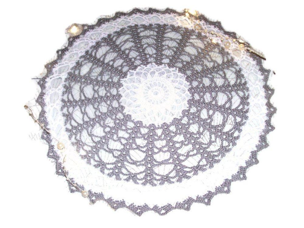 napperon au crochet blanc gris déco d'intérieur cadeau noël femme