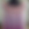 Tunique au crochet, blouse, rose chiné