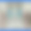 Boucles d'oreilles perles quartz craquelé bleu et rondelle strass