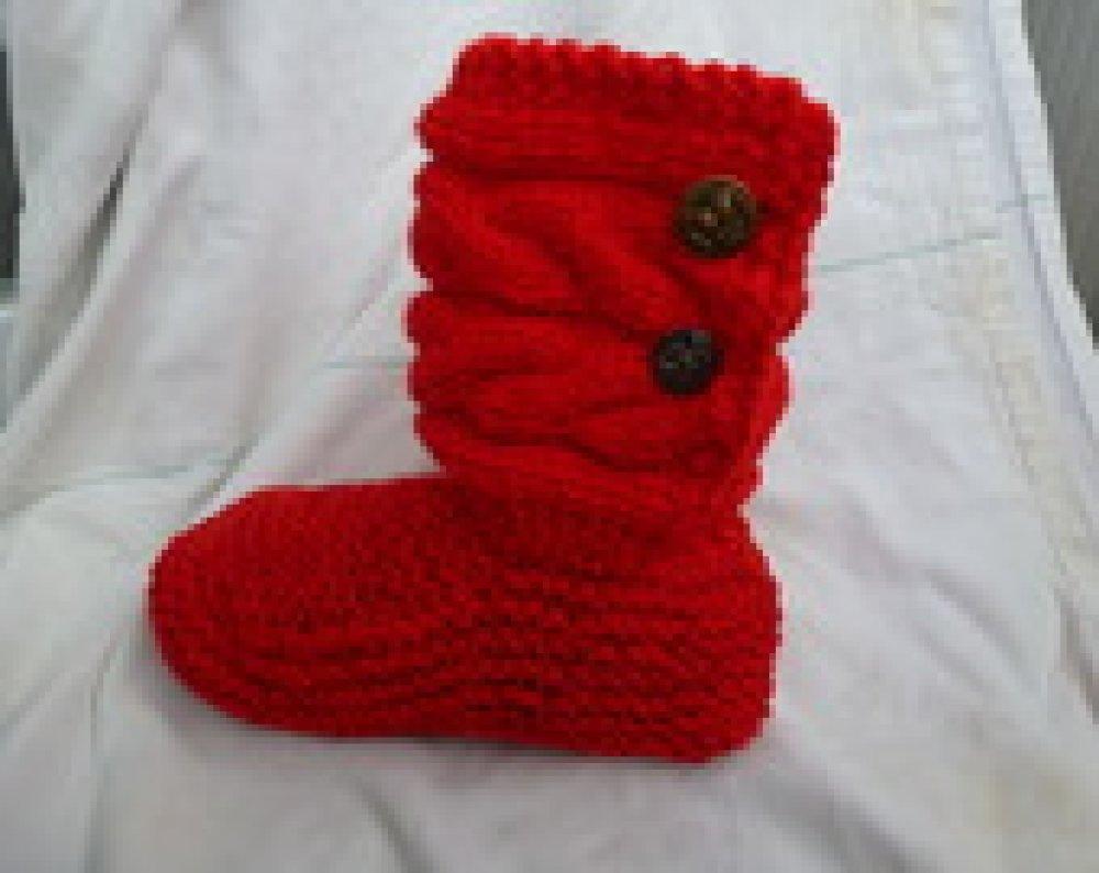 chausson d'intérieur montant avec une tige torsadée ,  original et  confortable, ma création fait main modèle unique