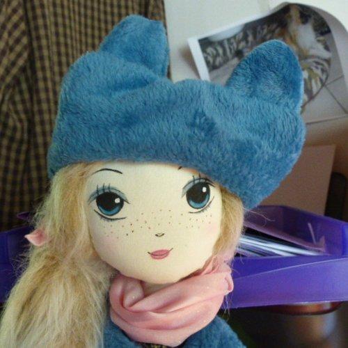 Poupée chiffon,art doll, poupée tissu, poupée fait main
