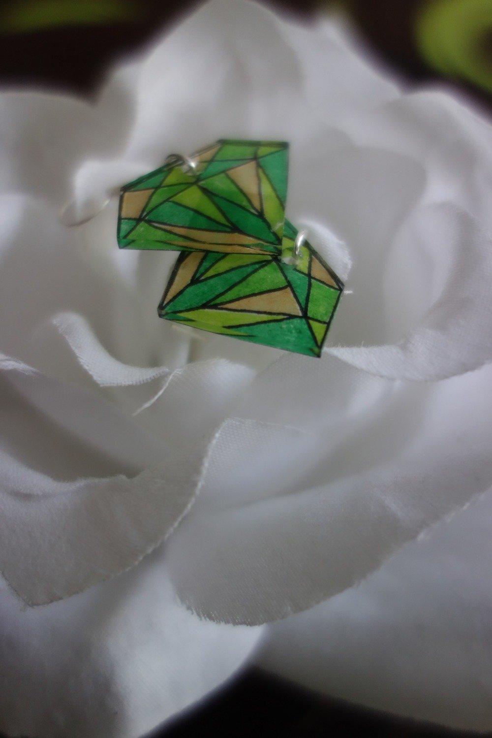 Boucle d'oreilles diamant