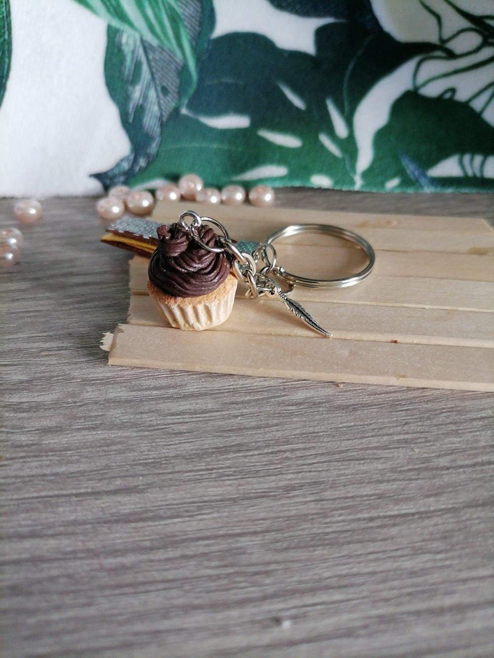 porte clefs cupcake chocolat