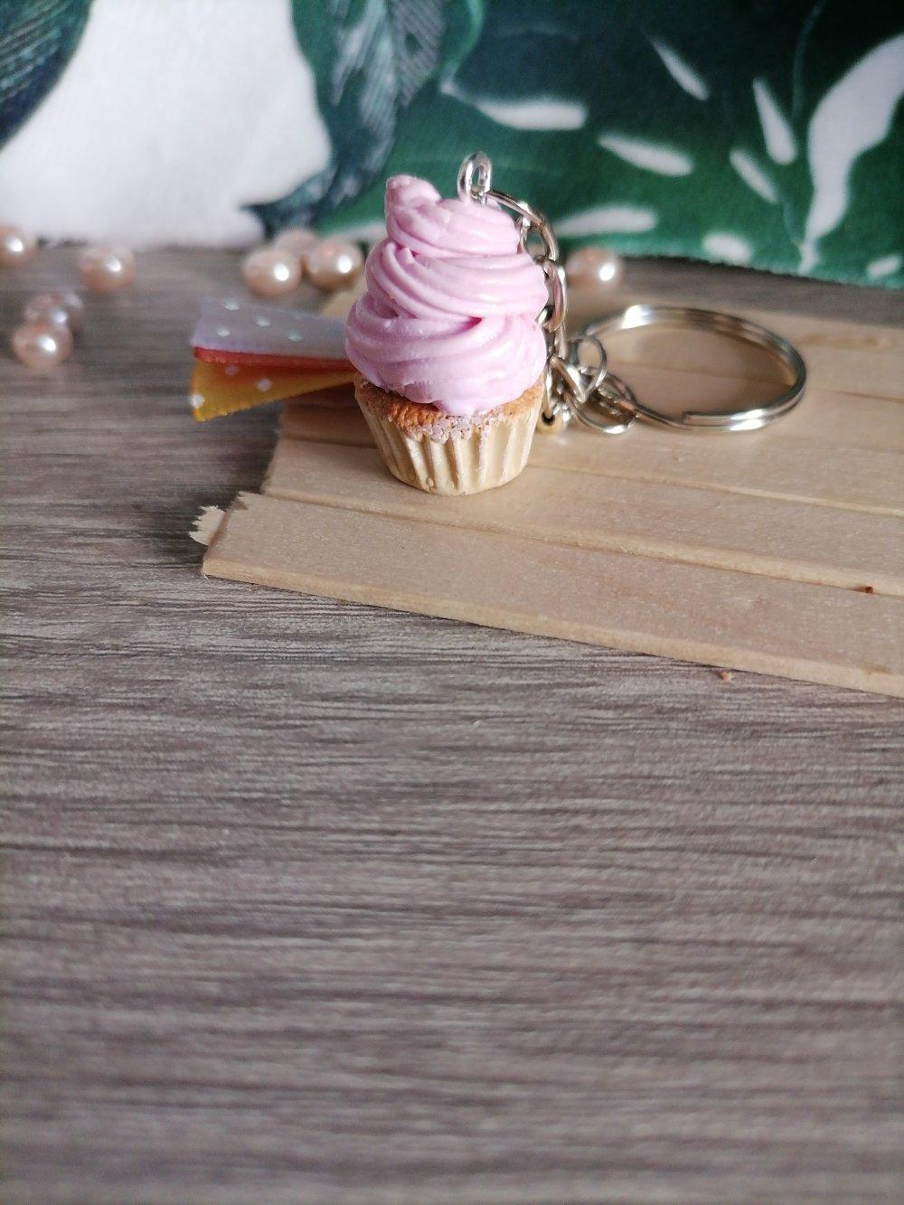 porte clefs cupcake fraise