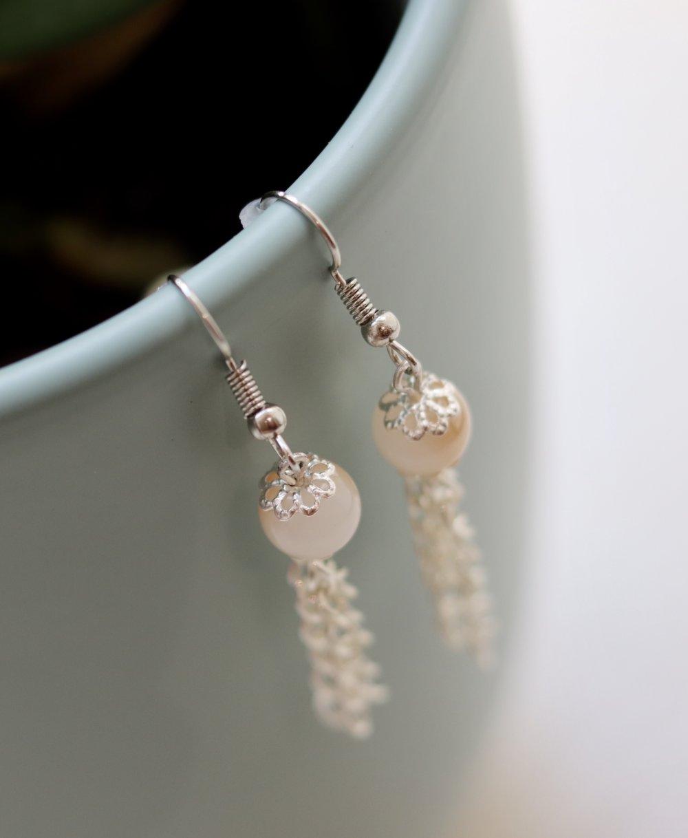 Perles en verre bicolores