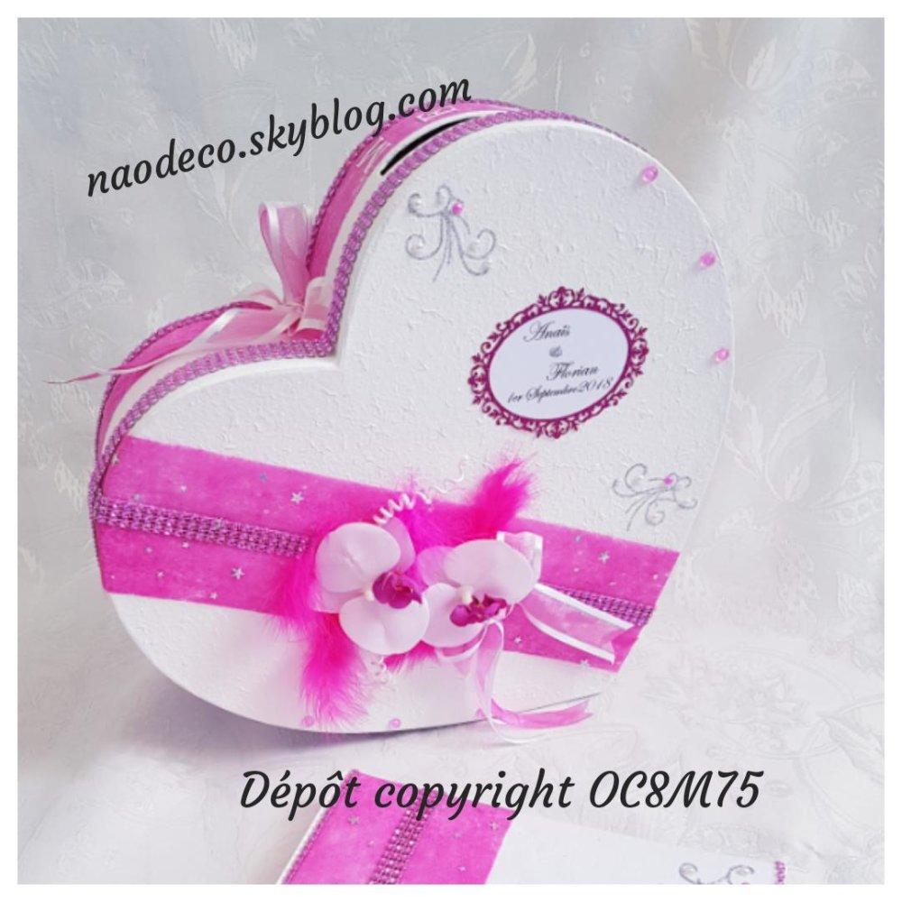 Urne de mariage orchidées