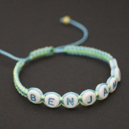 Bracelet prénom enfant garçon personnalisé