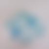 Miroir de poche décoration pâte polymère bleu