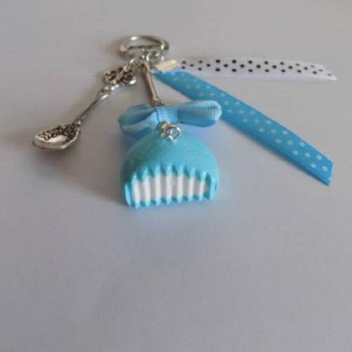 Porte clés gourmands un bonbon bleu ciel