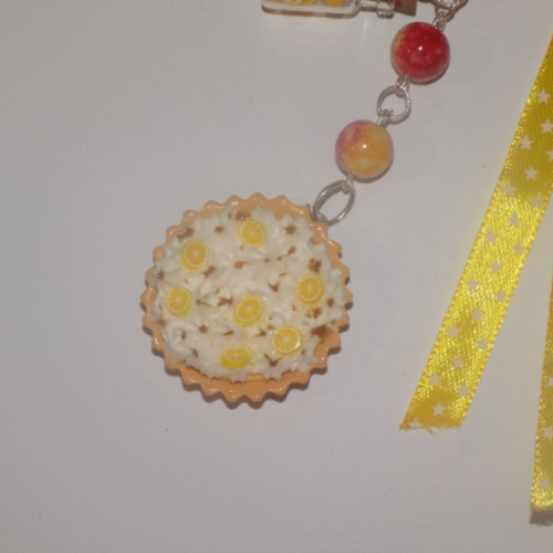 Porte clé tartes au citron meringuée