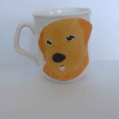 Mug porcelaine chien labrador pâte polymère