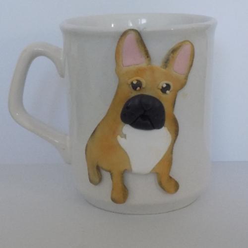 Mug porcelaine bouledogue français