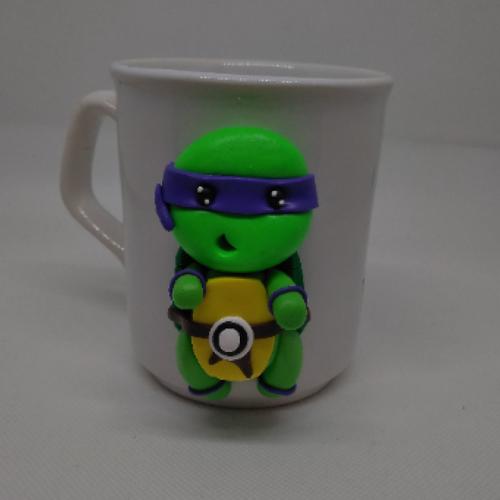 Mug porcelaine tortue ninja donatello violet