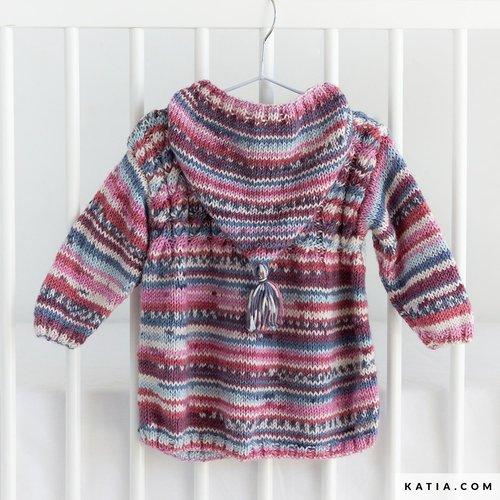 Kit Manteau à Capuche à Tricoter Pour Bébé Taille 3 Mois à